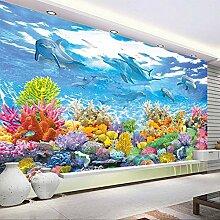 Foto Tapete 3D Unterwasserwelt Wandmalerei