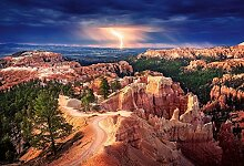 Foto-Tapete - Lightning over Bryce Canyon -