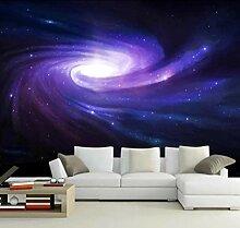 Foto Tapete Lila Galaxie Milchstraße 400X280Cm