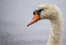 Foto-Tapete - Polygon Swan - Größe 372x254 cm - 8-teilig
