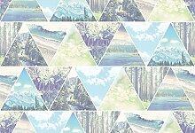 Foto-Tapete - Triangle World - Größe 372x254 cm - 8-teilig