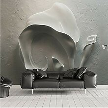 Foto Tapeten Wandbild 3D Geprägte Grau Stein