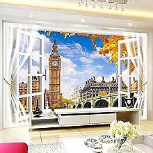 Foto Wallpaper Fenster außerhalb Turm Landschaft
