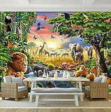 Foto Wandbild Tapete Für Wand 3D Cartoon Tier