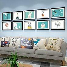Foto Wandrahmen Foto-Galerie-Rahmen-Sätze der Wand-Art- und Weiseausgangsdekoration mit verwendbarer Gestaltungsarbeit und Familie, Sätze von 10 Modisches Design ( Farbe : F )