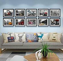 Foto Wandrahmen Foto-Galerie-Rahmen-Sätze der Wand-Art- und Weiseausgangsdekoration mit verwendbarer Gestaltungsarbeit und Familie, Sätze von 10 Modisches Design ( Farbe : B )