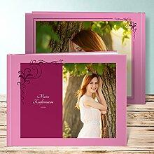 Fotoalben für Konfirmation, Legende 72 Seiten, Hardcover 290x222 mm personalisierbar, Ro