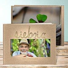 Fotoalbum für 18 Geburtstag, Goldener Tag 70 28 Seiten, Hardcover 290x222 mm personalisierbar, Braun