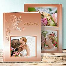 Fotoalbum für Hochzeit, Frühlingsgefühle 28 Seiten, 14 Blatt, Hardcover 234x296 mm personalisierbar, Orange