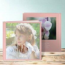 Fotoalbum für Kommunion, Das große Ereignis Kommunion 92 Seiten, Hardcover 215x215 mm personalisierbar, Orange