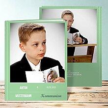 Fotoalbum für Kommunion, Großer Moment Kommunion 80 Seiten, Hardcover 234x296 mm personalisierbar, Grün