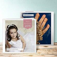 Fotoalbum für Kommunion, Neutral 2 68 Seiten, Hardcover 215x215 mm personalisierbar, Ro