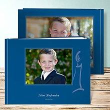 Fotoalbum für Kommunion, Segment 36 Seiten, Hardcover 290x222 mm personalisierbar, Blau