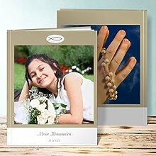 Fotoalbum für Kommunion, Spähre 72 Seiten, Hardcover 234x296 mm personalisierbar, Braun