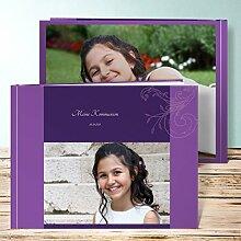 Fotoalbum für Kommunion, Sympathie 92 Seiten, Hardcover 290x222 mm personalisierbar, Lila