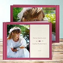 Fotoalbum für Kommunion, Unser Kommunionskind 68 Seiten, Hardcover 290x222 mm personalisierbar, Ro