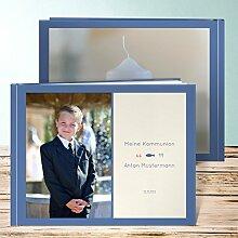 Fotoalbum für Kommunion, Unser Kommunionskind 96 Seiten, Hardcover 290x222 mm personalisierbar, Blau