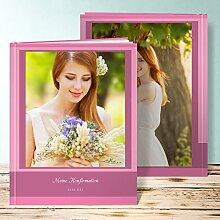 Fotoalbum für Konfirmation, Bilderreihe 56 Seiten, Hardcover 234x296 mm personalisierbar, Ro