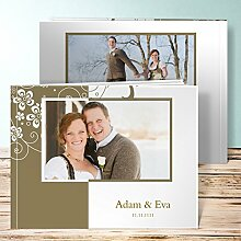 Fotoalbum Hochzeit, Garten der Träume 68 Seiten, 34 Blatt, Hardcover 290x222 mm personalisierbar, Braun