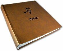 Fotoalbum Tennis 26x30cm, 100 Seiten weißer
