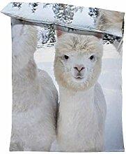 fotobar!style Bettbezug 135 x 200 cm Alpakas