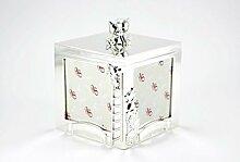 FOTOBOX FOTOALBUM BOX BÄR KIND GEBURT TAUFE GESCHENK FOTO BABY BABYBOX SILBER + BRILLIBRUM® FLYER Geschenke Kinder Geschenkidee Kinder (Fotobox ohne Gravur)