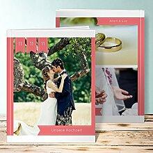 Fotobuch für Hochzeit, Hochzeitsbanner 84 Seiten, 42 Blatt, Hardcover 234x296 mm personalisierbar, Ro