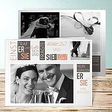 Fotobuch für Hochzeit, Love Story 76 Seiten, 38 Blatt, Hardcover 290x222 mm personalisierbar, Orange