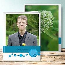 Fotobuch für Jugendweihe, Blubberblasen 88 Seiten, Hardcover 234x296 mm personalisierbar, Blau