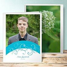 Fotobuch für Jugendweihe, Bogen 28 Seiten, Hardcover 234x296 mm personalisierbar, Blau