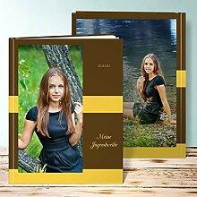 Fotobuch für Jugendweihe, Dankbarkeit 68 Seiten, Hardcover 234x296 mm personalisierbar, Gelb