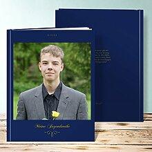 Fotobuch für Jugendweihe, Herrlich 64 Seiten, Hardcover 234x296 mm personalisierbar, Blau