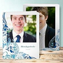 Fotobuch für Jugendweihe, Muschelrauschen 96 Seiten, Hardcover 234x296 mm personalisierbar, Blau