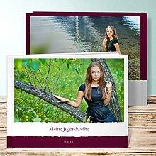 Fotobuch für Jugendweihe, Neuigkeit 64 Seiten, Hardcover 290x222 mm personalisierbar, Ro