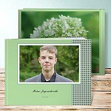 Fotobuch für Jugendweihe, Offenheit 40 Seiten, Hardcover 290x222 mm personalisierbar, Grün