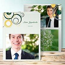 Fotobuch für Jugendweihe, Pustekuchen 32 Seiten, Hardcover 234x296 mm personalisierbar, Grün