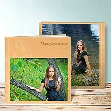 Fotobuch für Jugendweihe, Spirale 36 Seiten, Hardcover 215x215 mm personalisierbar, Orange