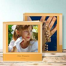Fotobuch für Kommunion, Bilderreihe 80 Seiten, Hardcover 215x215 mm personalisierbar, Orange