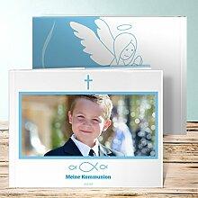 Fotobuch für Kommunion, Huldigung 36 Seiten, Hardcover 290x222 mm personalisierbar, Blau