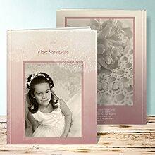 Fotobuch für Kommunion, Löwenzahn mit Foto 44 Seiten, Hardcover 234x296 mm personalisierbar, Lila