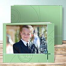 Fotobuch für Kommunion, Schöpferkraft 32 Seiten, Hardcover 290x222 mm personalisierbar, Grün
