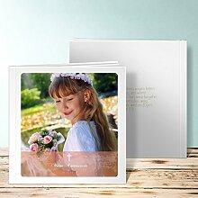 Fotobuch Kommunion Design, Der große Tag 44 Seiten, Hardcover 215x215 mm personalisierbar, Orange