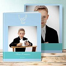Fotobuch Kommunion Design, Flügel 96 Seiten, Hardcover 234x296 mm personalisierbar, Blau