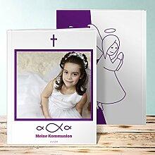 Fotobuch Kommunion Design, Huldigung 80 Seiten, Hardcover 234x296 mm personalisierbar, Lila