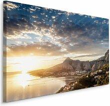 Fotodruck Meeresbucht bei Sonnenuntergang