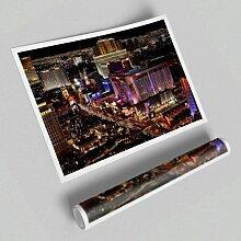 Fotodruck Nachtlichter des Strips in Las Vegas