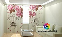 Fotogardine 3D Foto-Vorhang in Luxus Fotodruck.