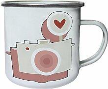 Fotografen Foto Hochzeit Liebe Geschenk Retro, Zinn, Emaille 10oz/280ml Becher Tasse d634e