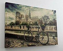 Fotografie Fahrrad Altstadt Leinwand Canvas Bild