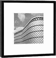 Fotografie im Holzrahmen: Blechbüchse - Kunstdruck - Format 52 x 52 cm - Rahmenfarbe beige - Hochwertiges Wandbild, Geschenkidee oder Souvenir aus Leipzig